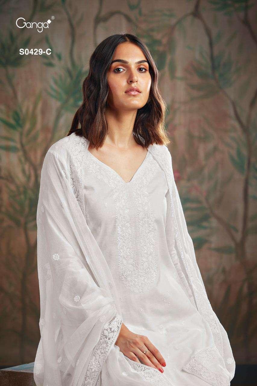 Ganga Livia S0429 Cotton With Embroidery Work Salwar Kameez Collection