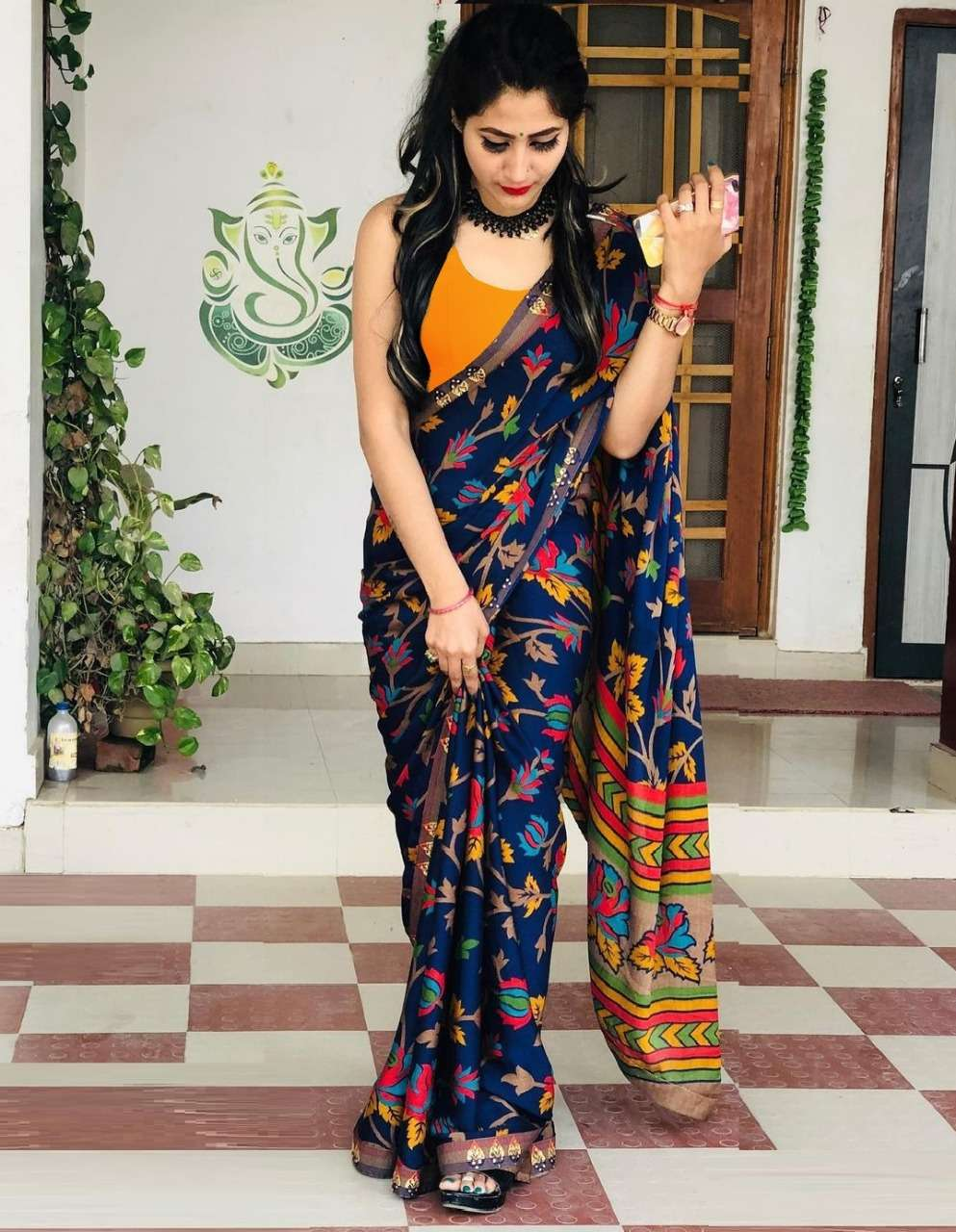 HEVY SOFTY SILK DIGITAL PRINT WITH JACQUARD LACE  saree collection