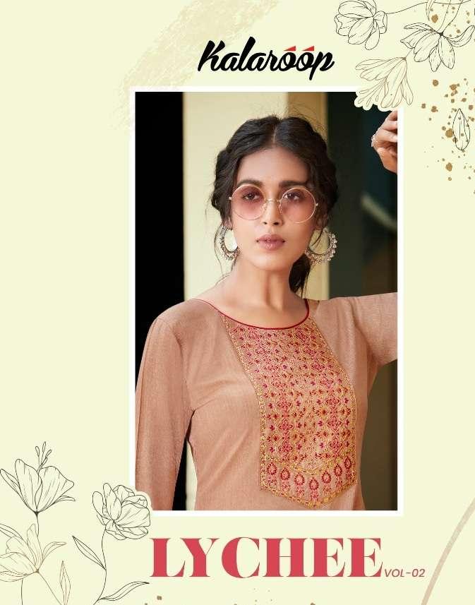 Kessi Fabrics Kalaroop Kajree Lychee Vol 2 Fancy rayon With embroidery Work Kurtis collection