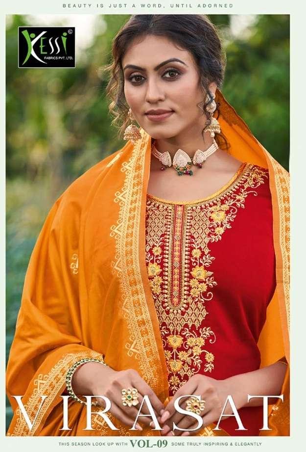 Kessi Fabrics Virasat Vol 9 Jam Silk Khatli Work Dress Material Collection