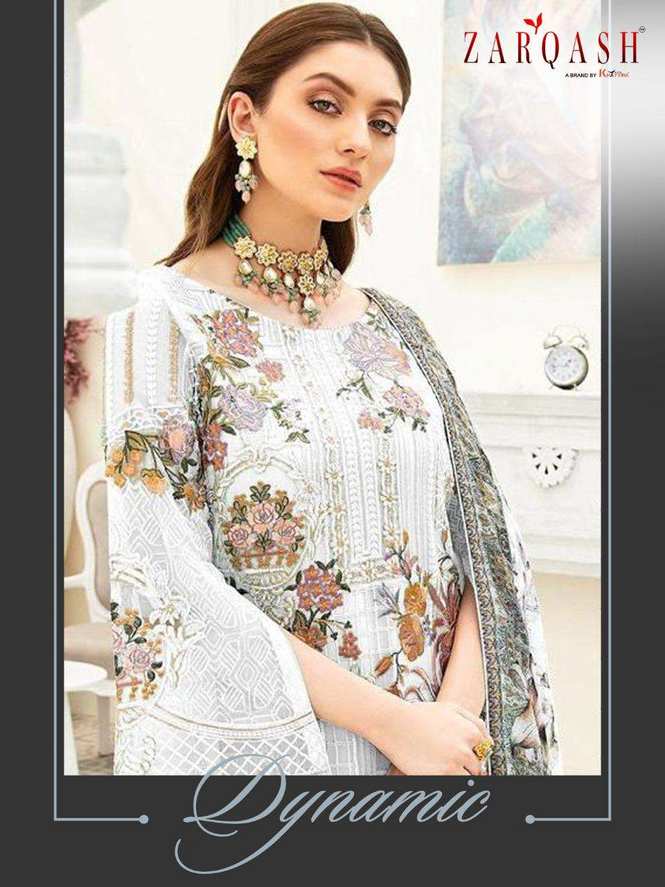 Khayyira Suits Zarqash Dynamic Faux Georgette With Heavy Embroidery Work Pakistani Suits Collection