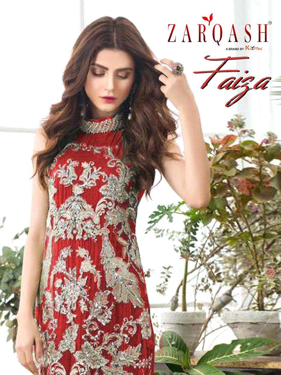 Khayyira Suits Zarqash Fazia Faux Georgette With Heavy Embroidery Work Pakistani Suits Collection