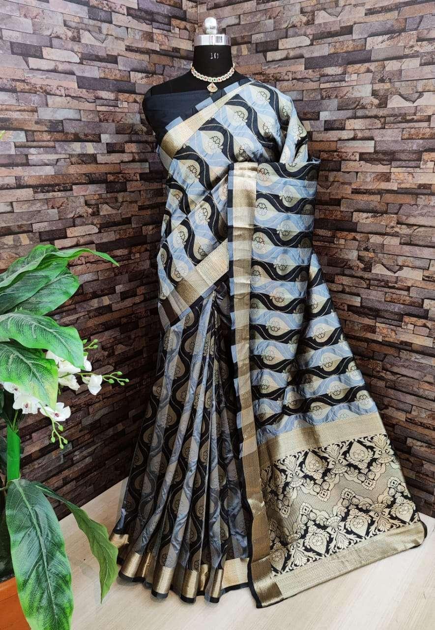 Kiyara Banarasi silk party wear saree collection 02