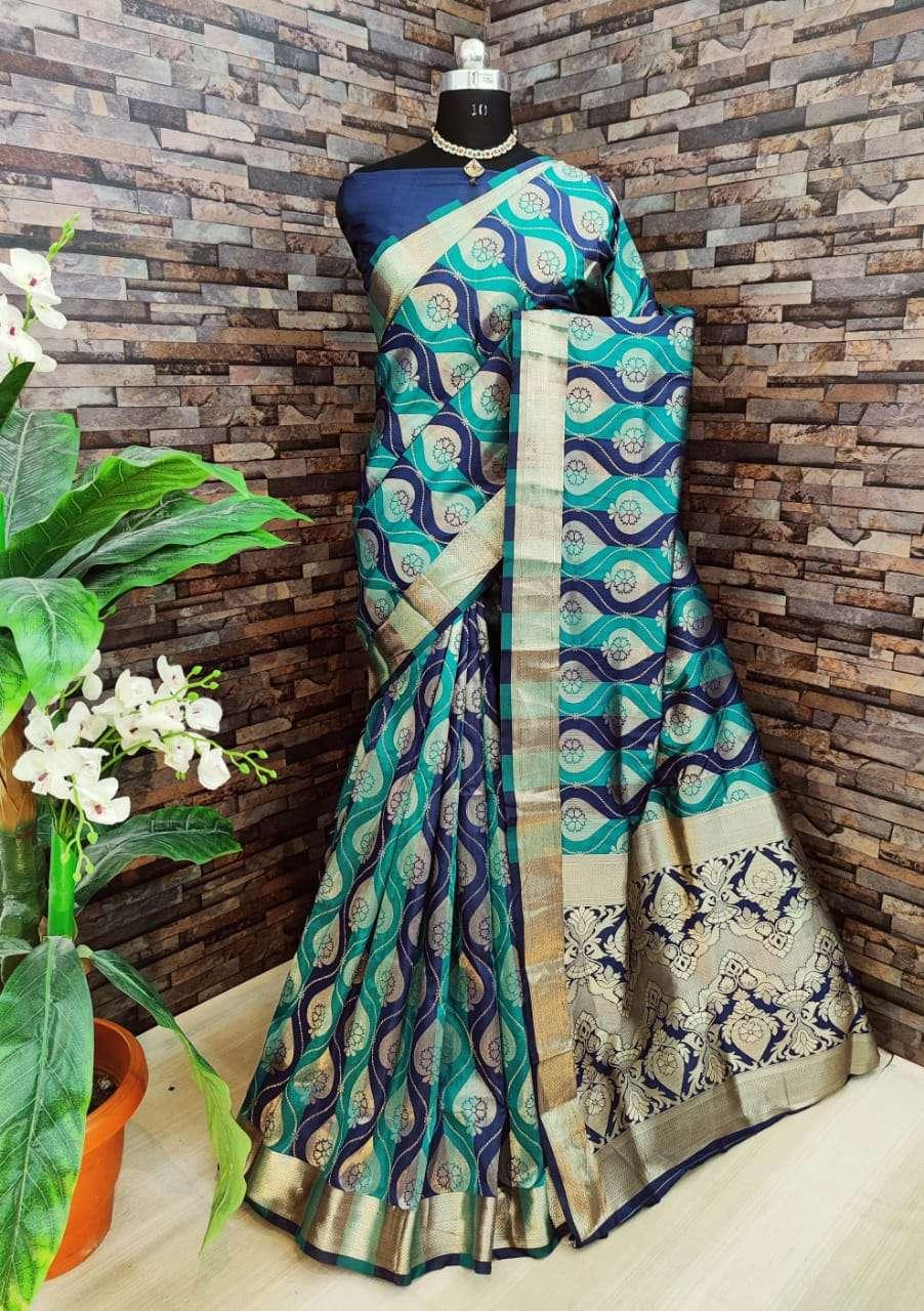Kiyara Banarasi silk party wear saree collection 05