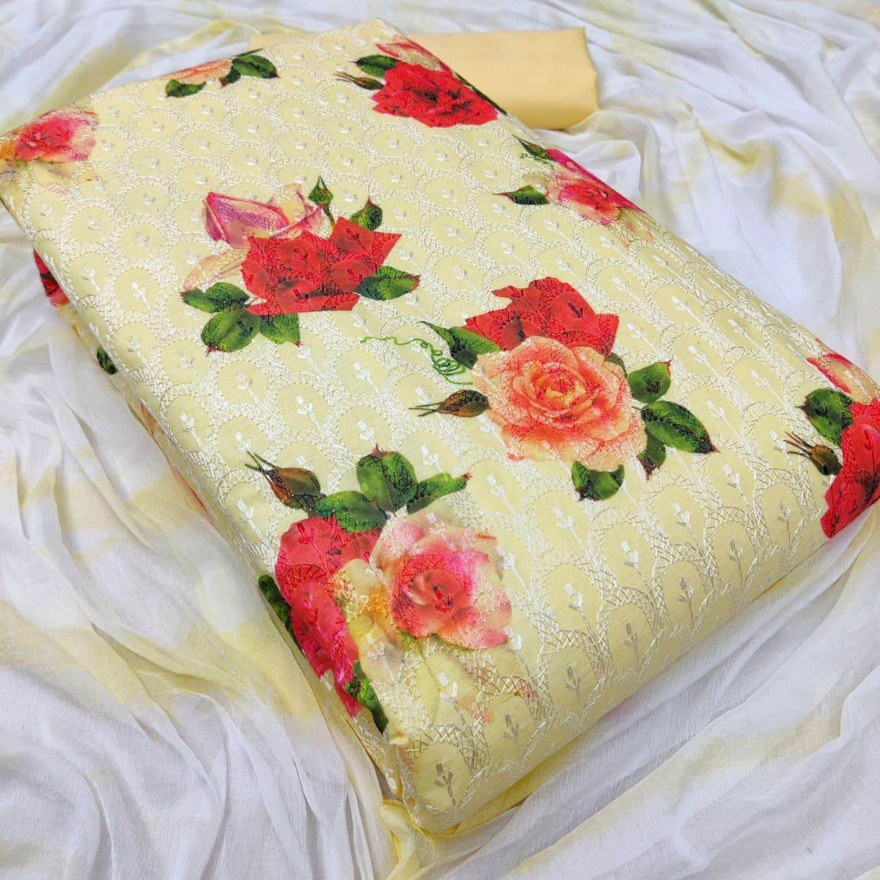 Latest Cotton Print With Embroidery Work Dress Material Collection 06