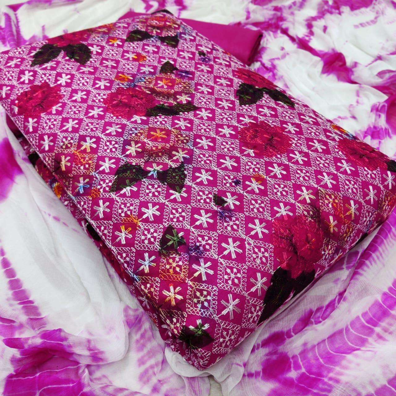 Latest Cotton Print With Embroidery Work Dress Material Collection 07