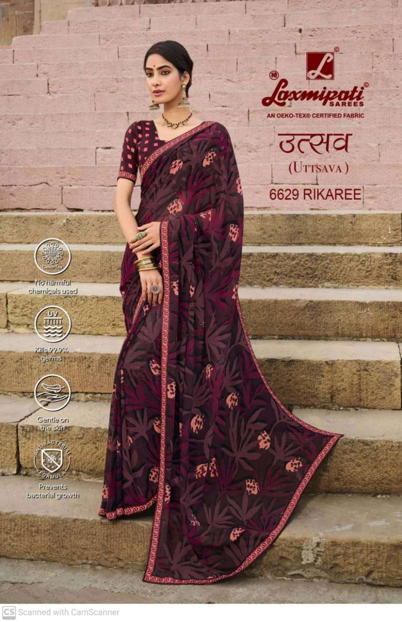 laxmipati  georgette with digital printed regular wear saree collection 01