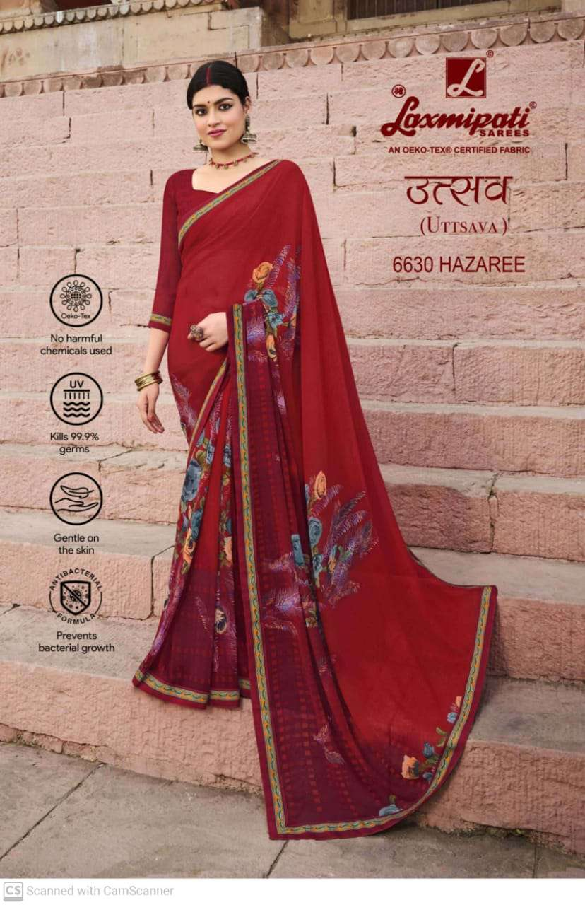 laxmipati  georgette with digital printed regular wear saree collection 02