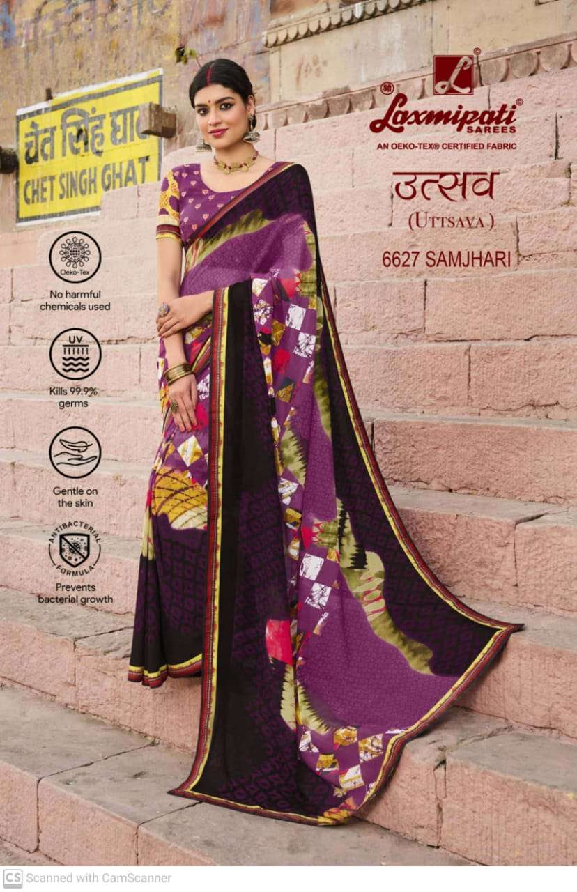 laxmipati  georgette with digital printed regular wear saree collection 03