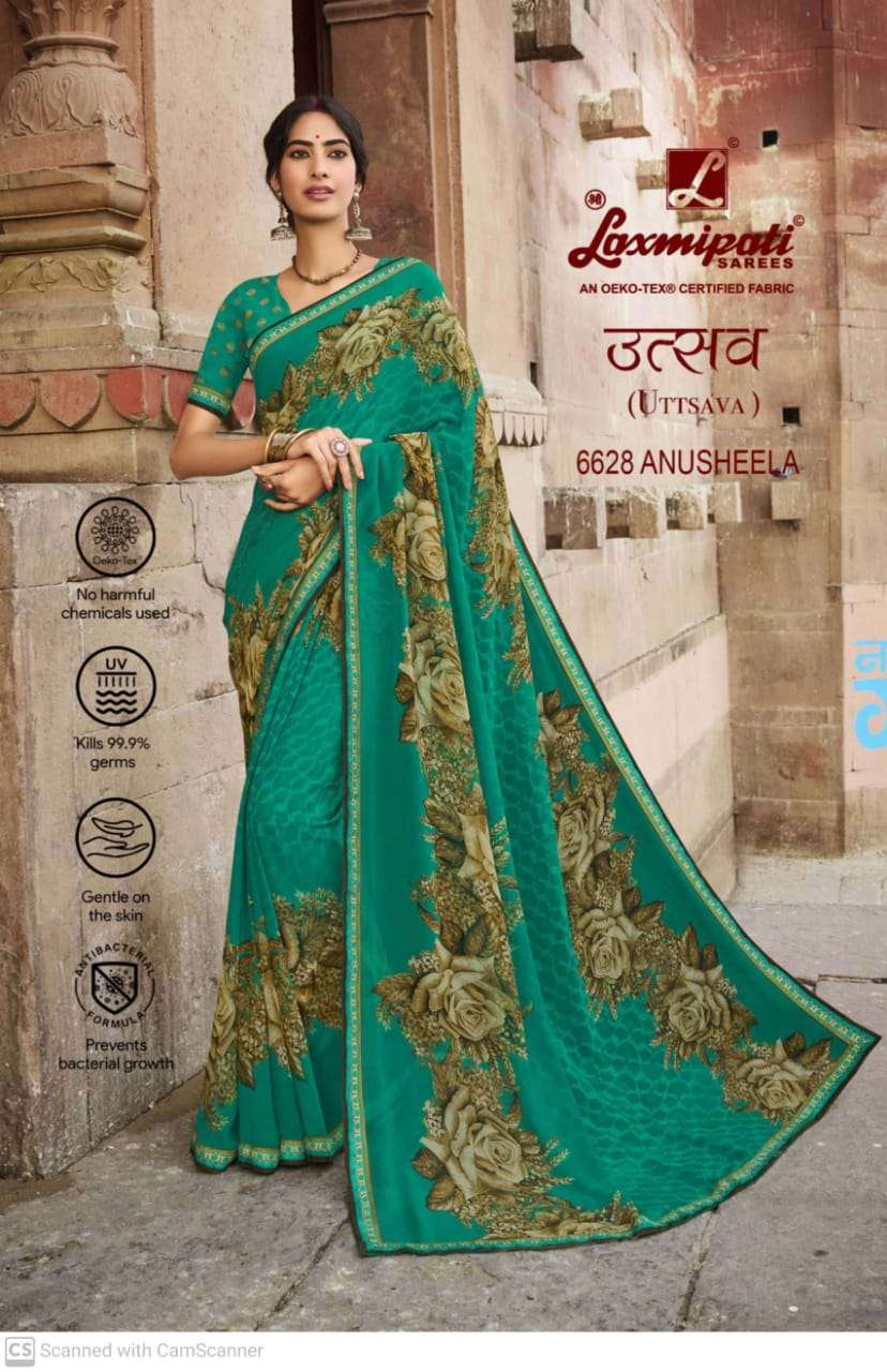 laxmipati  georgette with digital printed regular wear saree collection 04