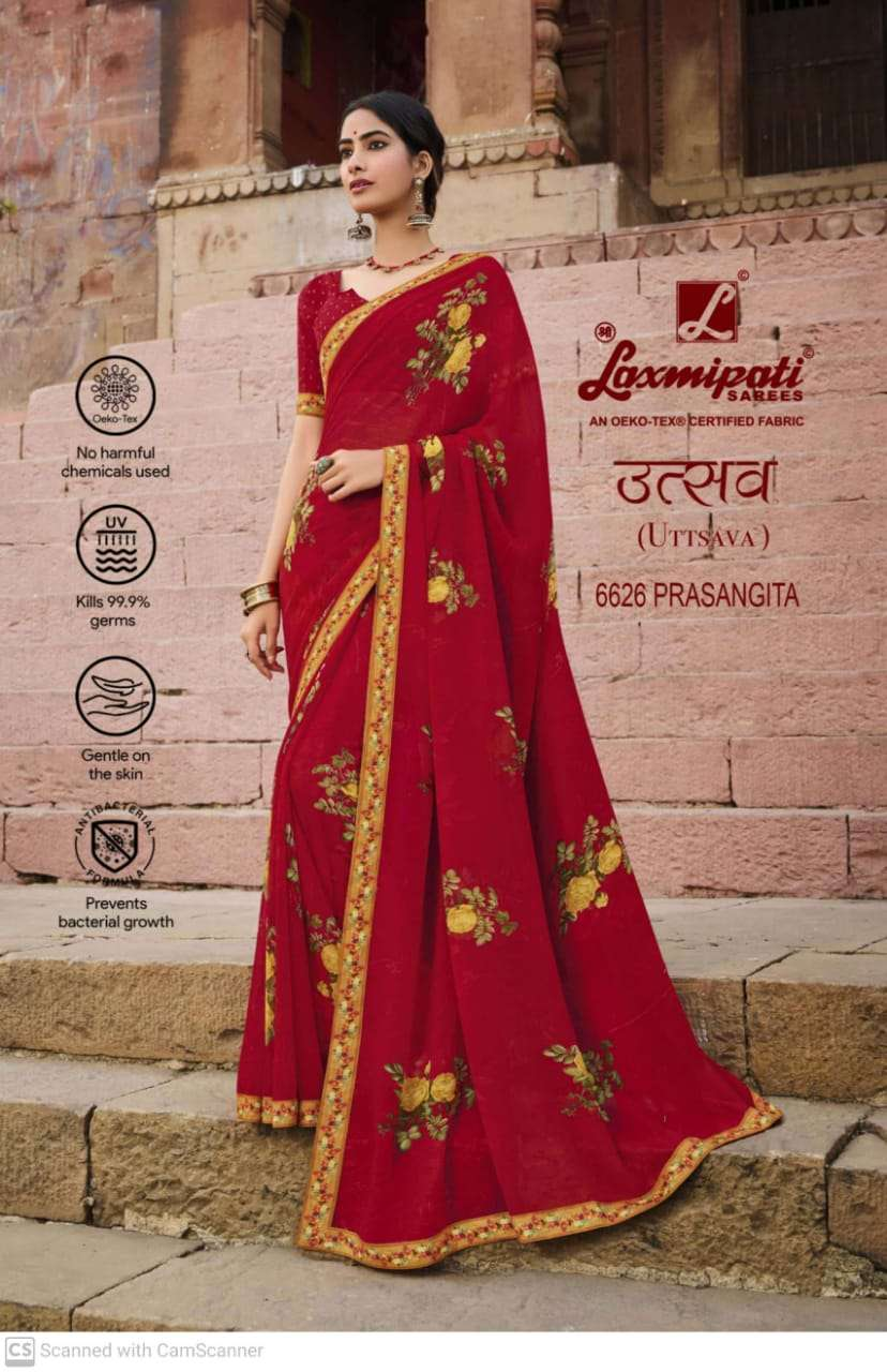 laxmipati  georgette with digital printed regular wear saree collection 05