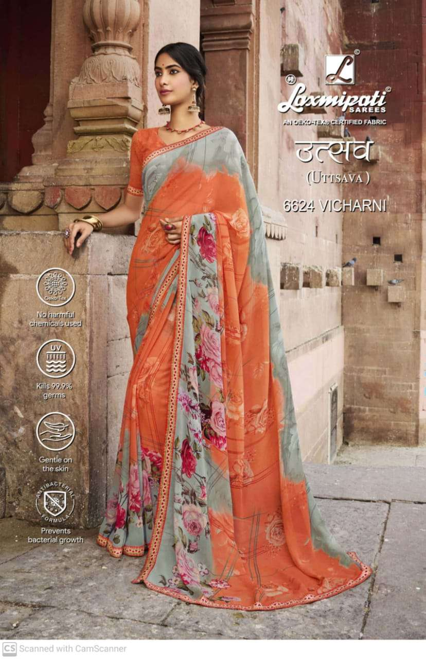 laxmipati  georgette with digital printed regular wear saree collection 06