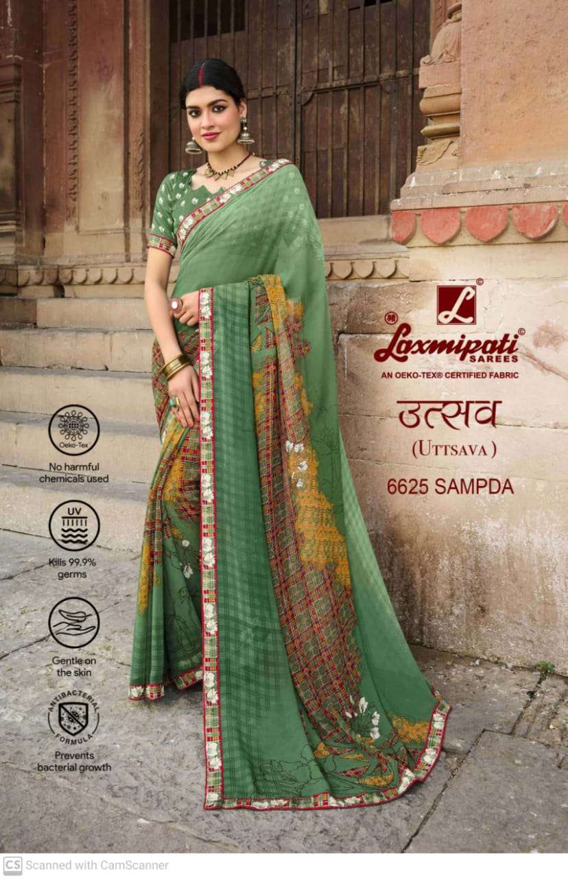 laxmipati  georgette with digital printed regular wear saree collection 07