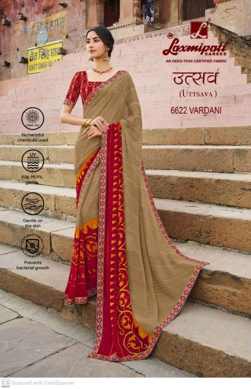 laxmipati  georgette with digital printed regular wear saree collection 08