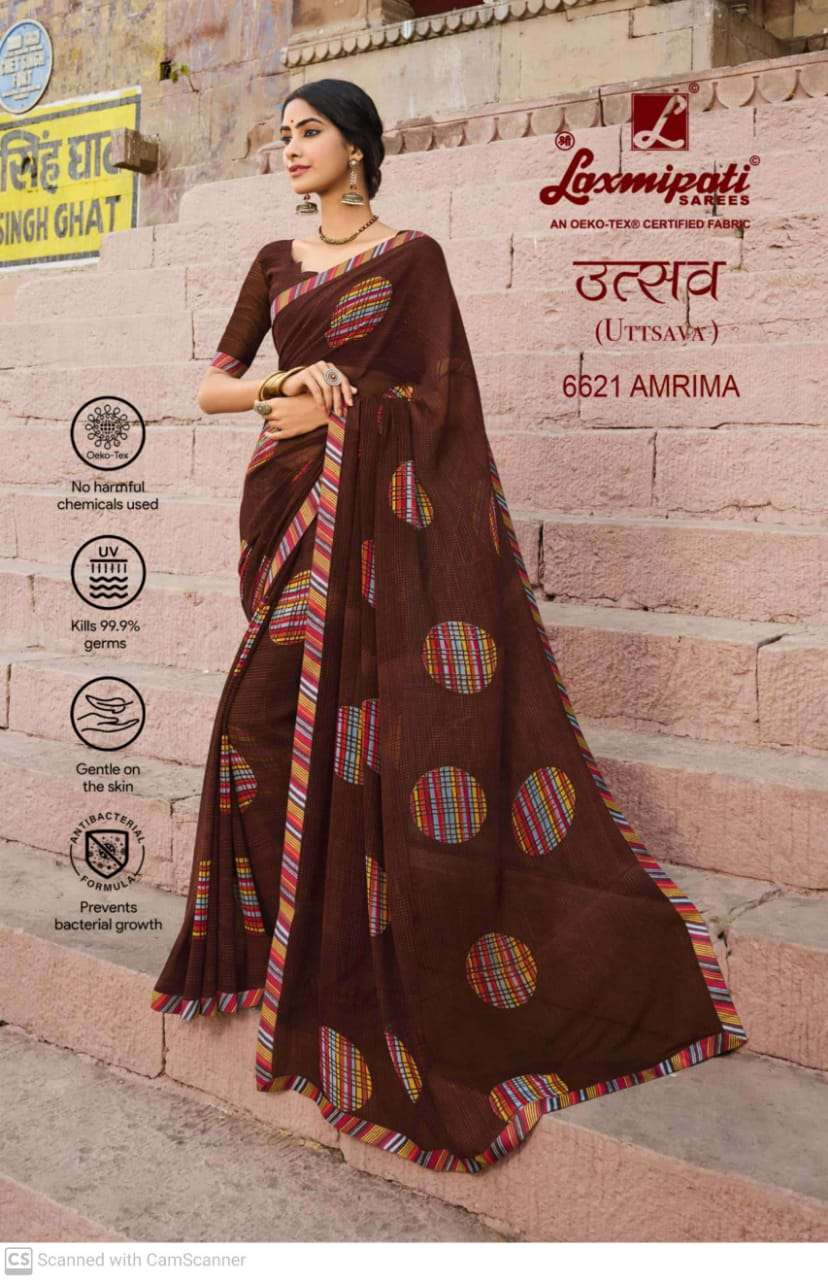 laxmipati  georgette with digital printed regular wear saree collection 09