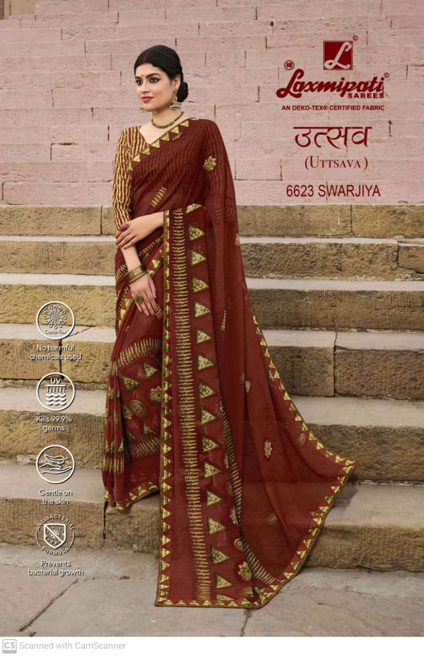 laxmipati  georgette with digital printed regular wear saree collection 10