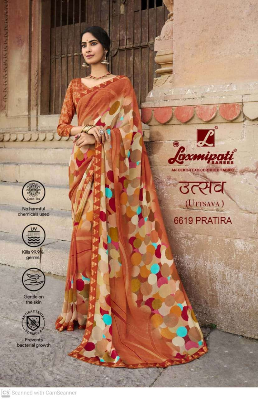 laxmipati  georgette with digital printed regular wear saree collection 11