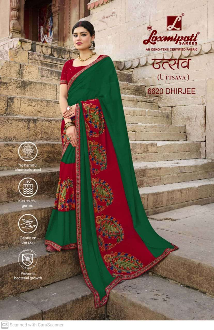 laxmipati  georgette with digital printed regular wear saree collection 12