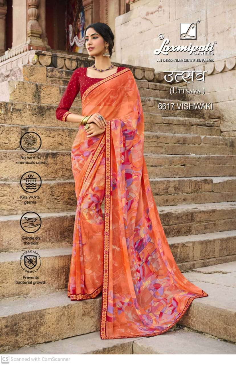 laxmipati  georgette with digital printed regular wear saree collection 13
