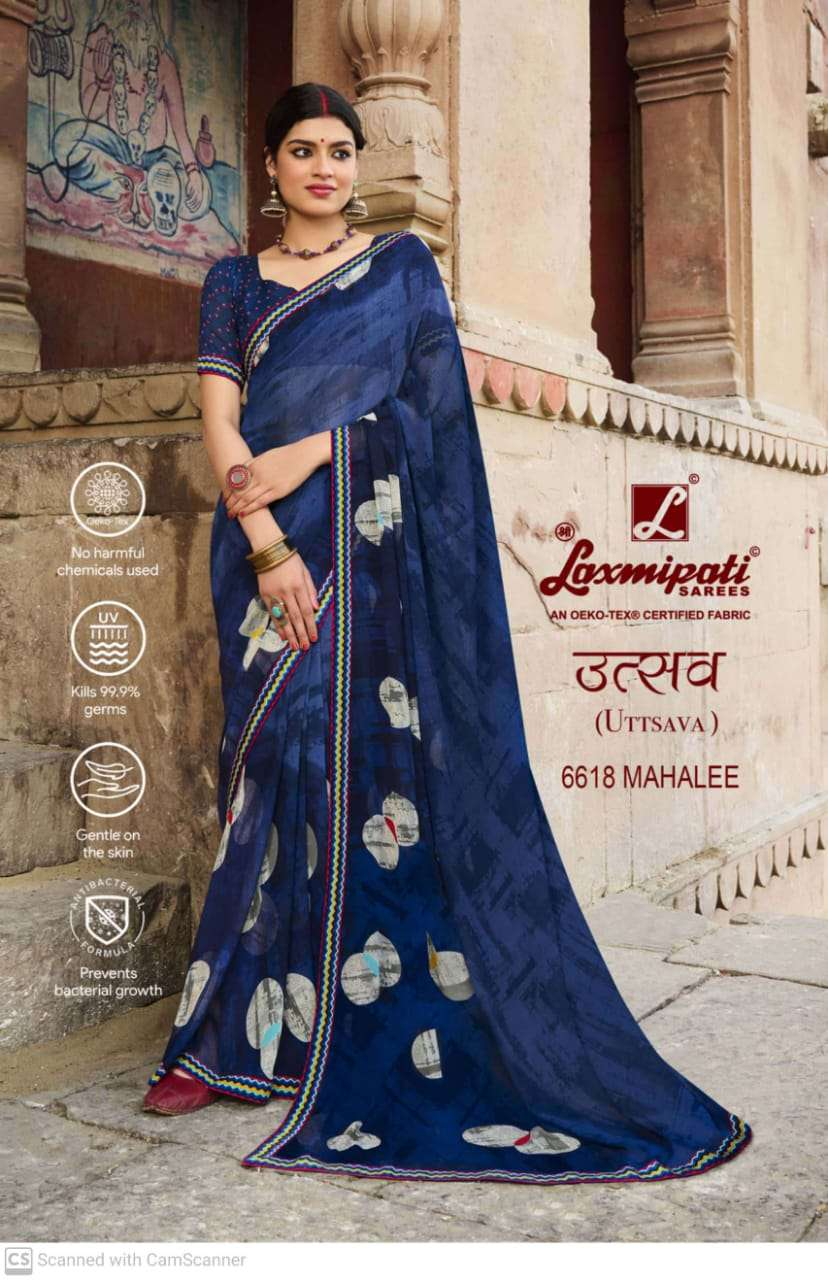 laxmipati  georgette with digital printed regular wear saree collection 14