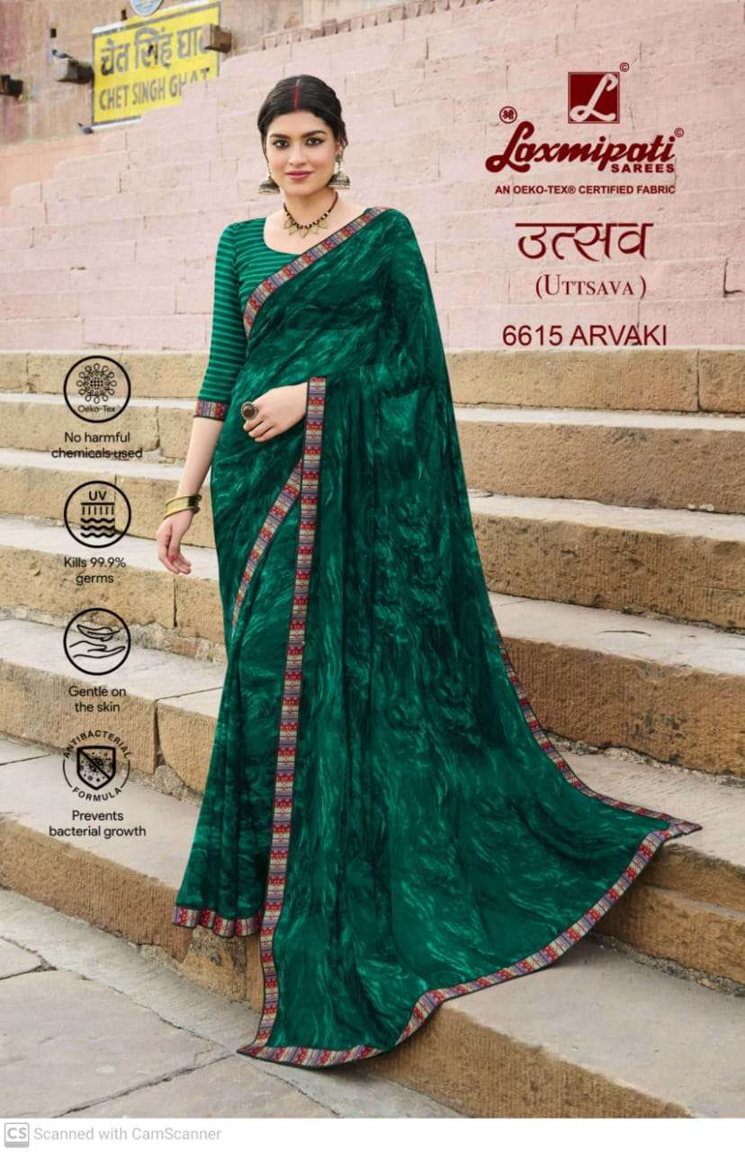laxmipati  georgette with digital printed regular wear saree collection 15