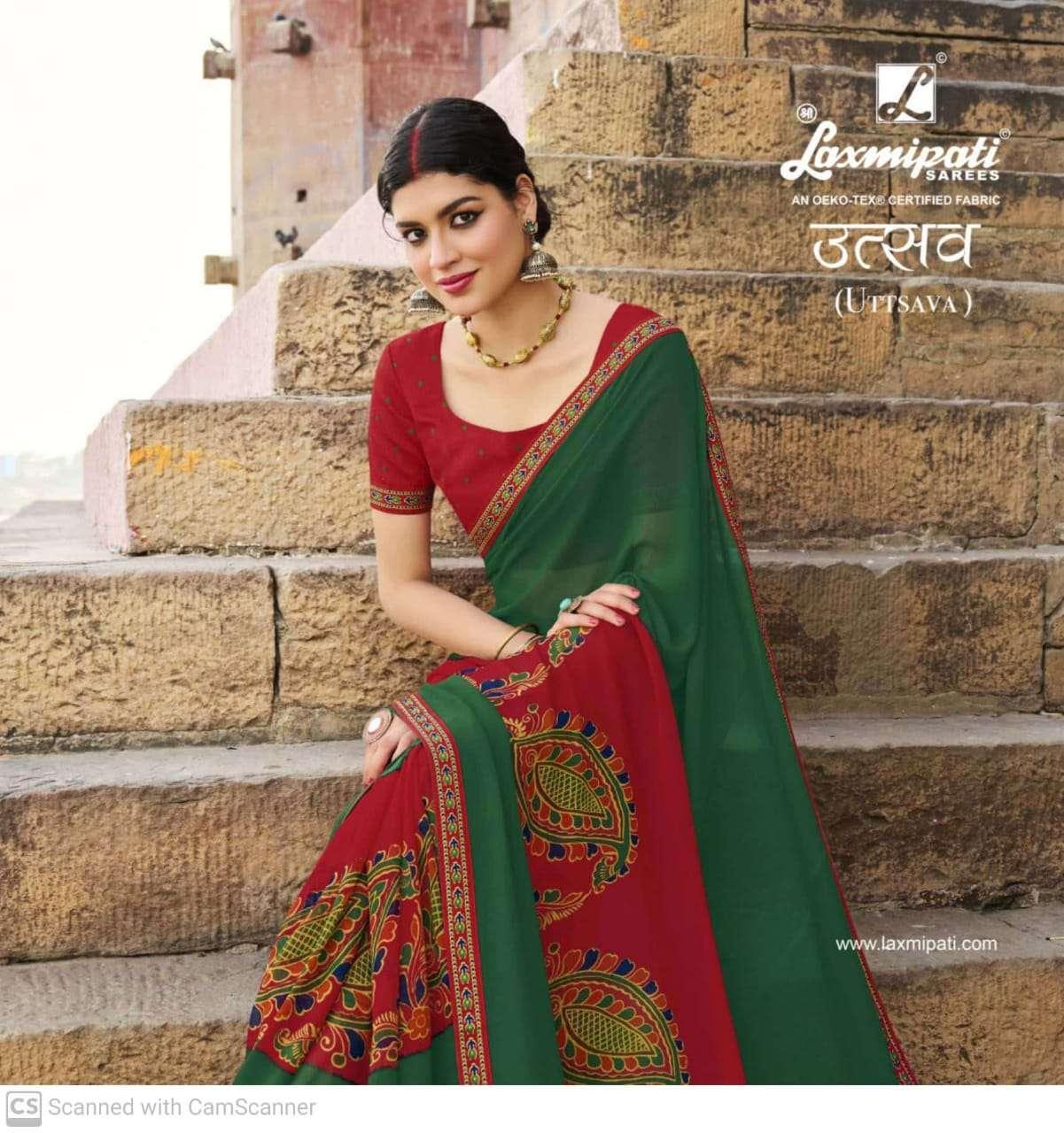 Laxmipati Sarees Utsav Georgette Digital Print Regular wear sarees Collection