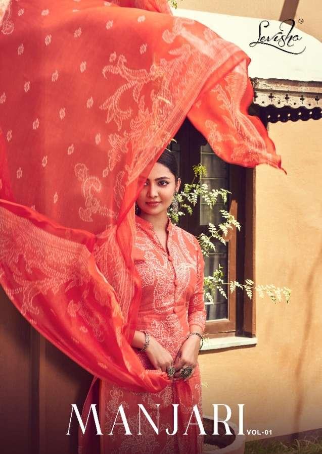 Levisha Manjari Vol 1 Cambric Cotton Bandhani Print Dress Material collection