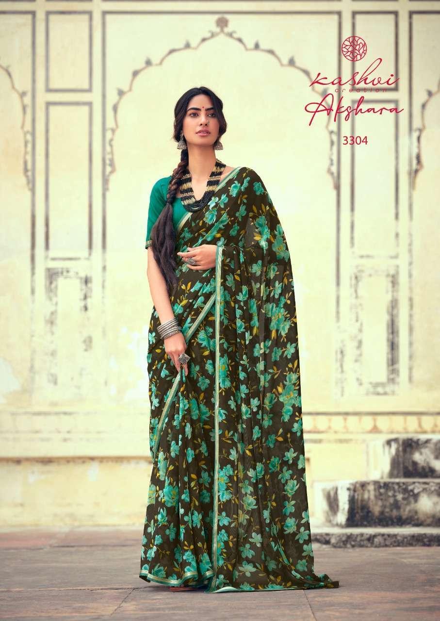 Lt Fabrics Kashvi Akshara Chiffon Printed Regular Wear Sarees Collection 03
