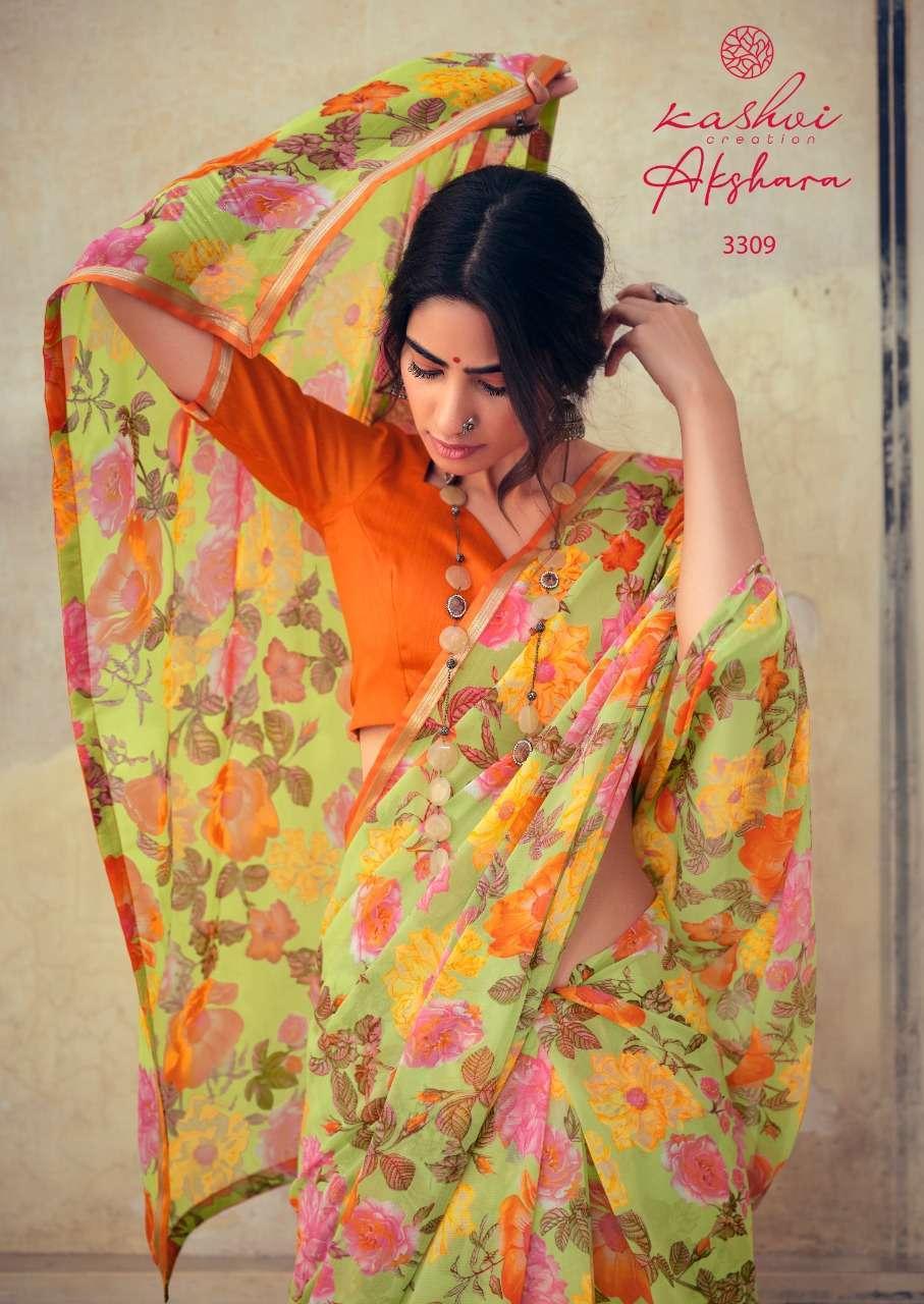 Lt Fabrics Kashvi Akshara Chiffon Printed Regular Wear Sarees Collection 05
