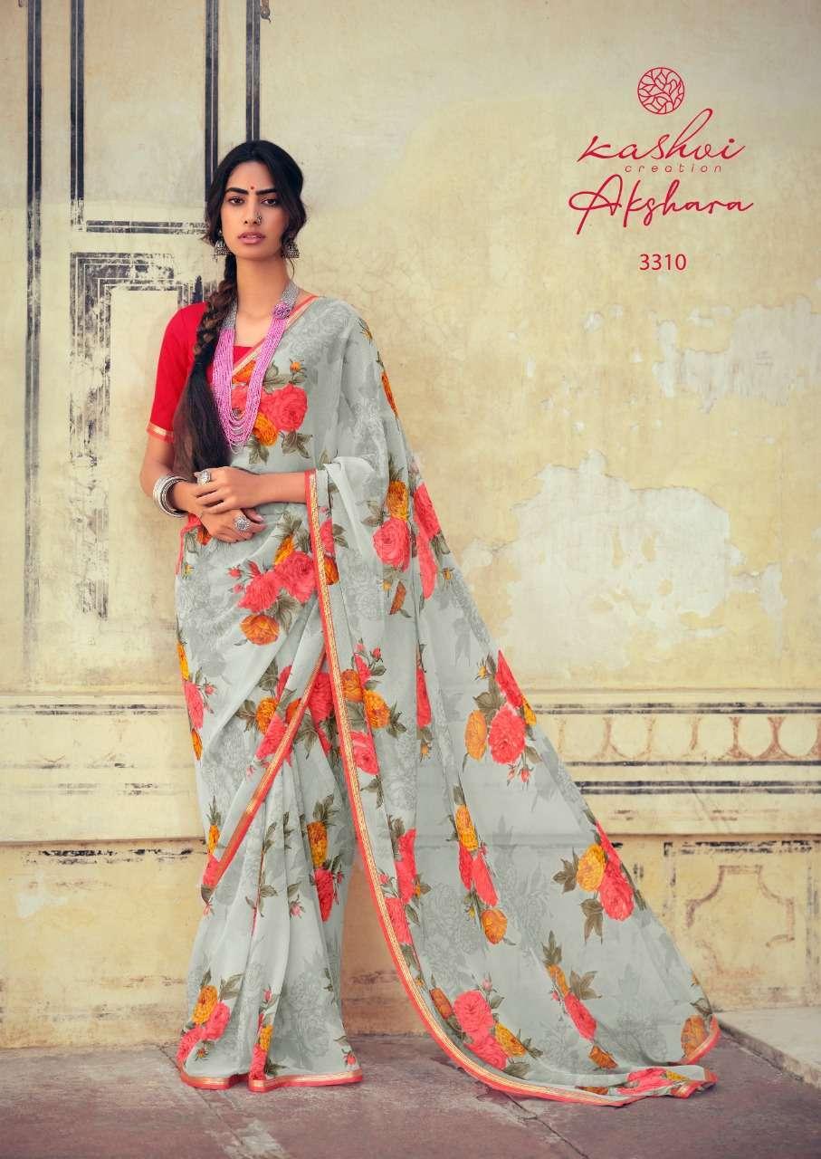 Lt Fabrics Kashvi Akshara Chiffon Printed Regular Wear Sarees Collection 07