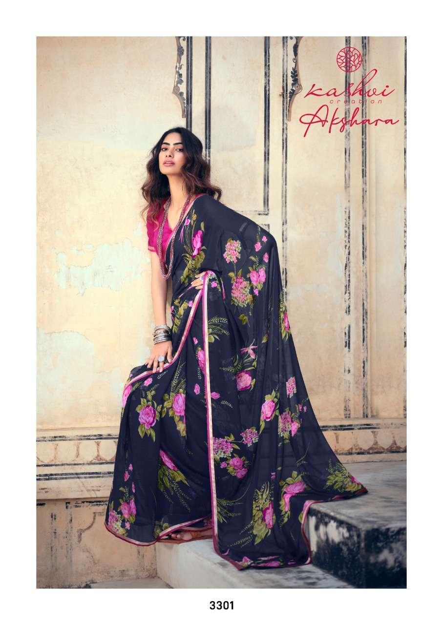 Lt Fabrics Kashvi Akshara Chiffon Printed Regular Wear Sarees Collection 10