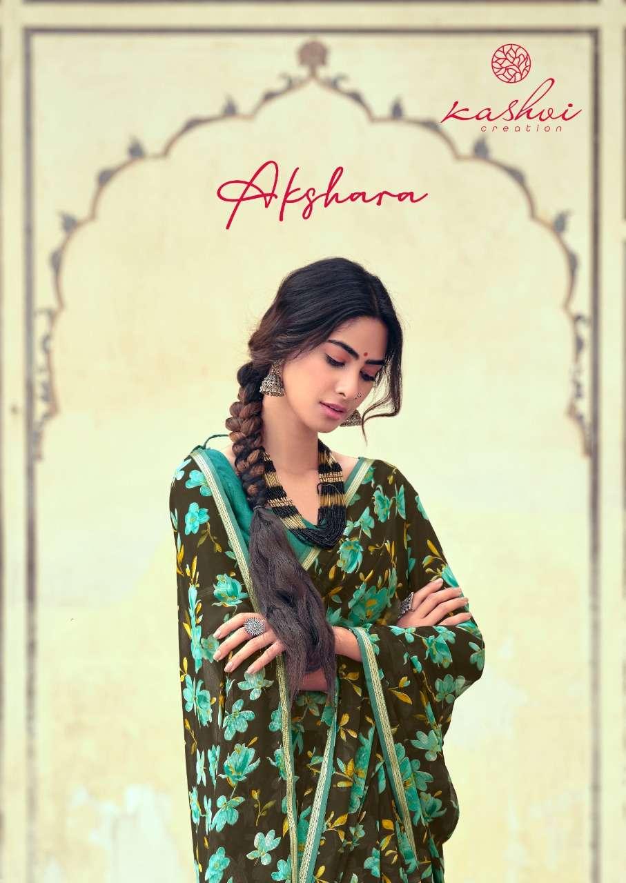 LT Fabrics Kashvi Akshara Chiffon printed Regular wear Sarees Collection