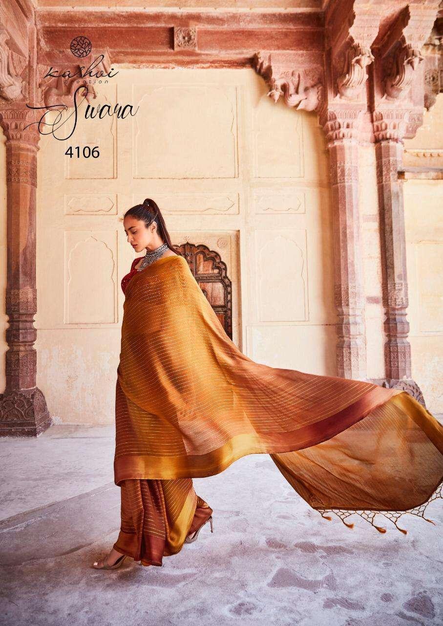 Lt Fabrics Kashvi Swara Rainbow Chiffon With Satin Patta saree collection 04