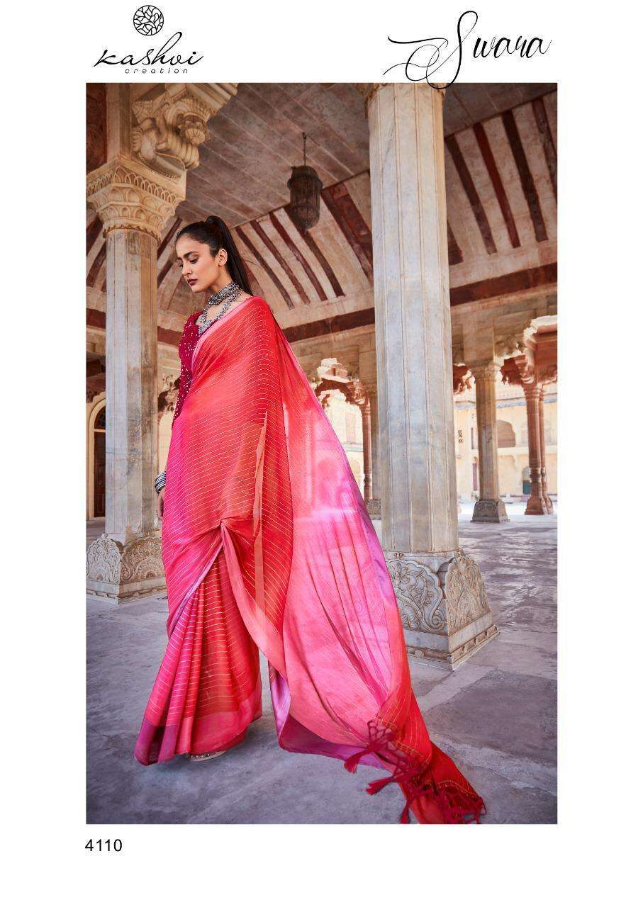 Lt Fabrics Kashvi Swara Rainbow Chiffon With Satin Patta saree collection 10