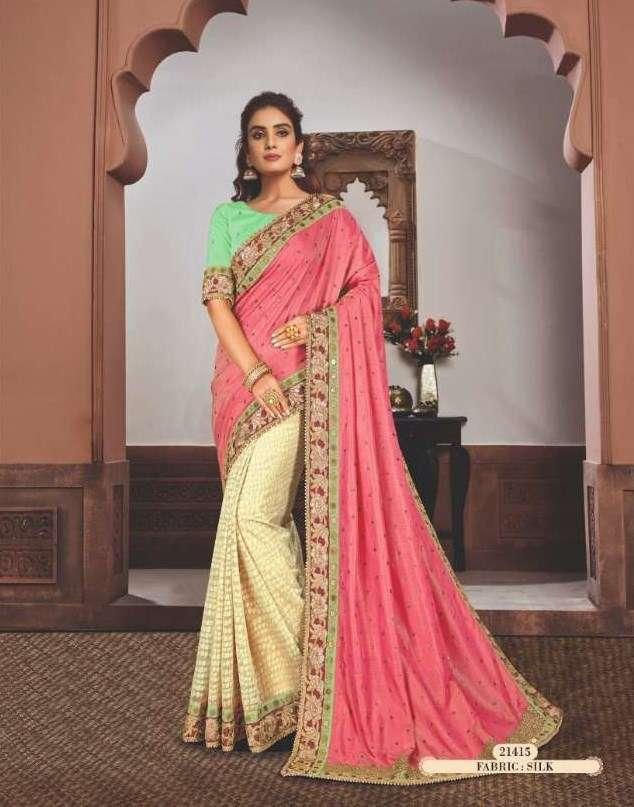 Mahotsav Mohmanthan Gold Sharvari satin georgette designer saree collection 13