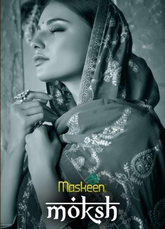 Maisha Maskeen Moksh Dola Jacquard With Kalamkari Embroidery Work Dress Material Collection