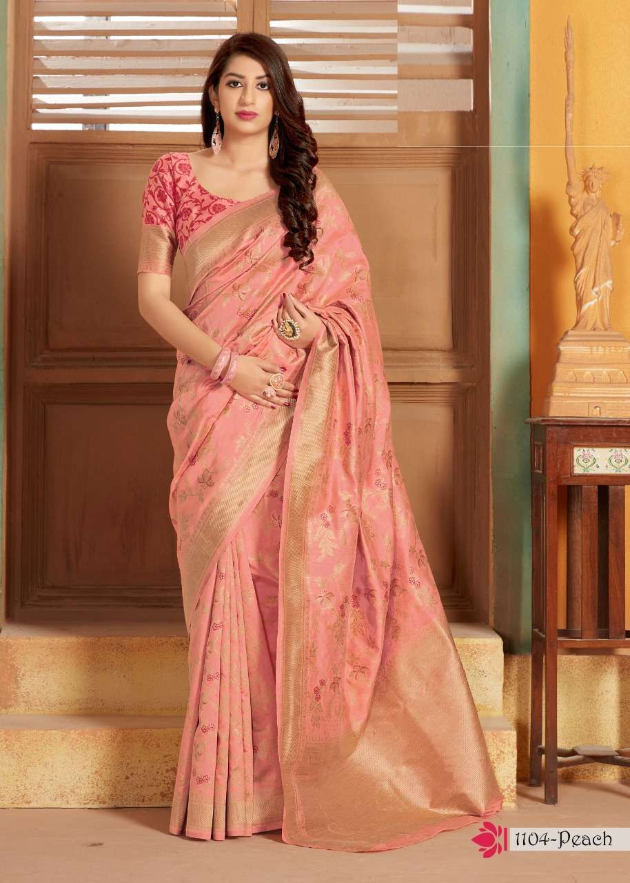 Manjubaa Clothing 1104 Colors Soft Silk Party Wear Sarees Collection