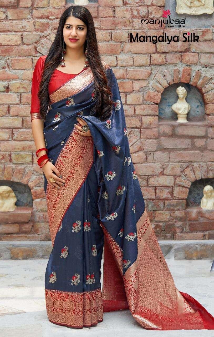 Manjubaa Clothing Mangalya Silk Designer Heavy Banarasi Silk Sarees Collection  01