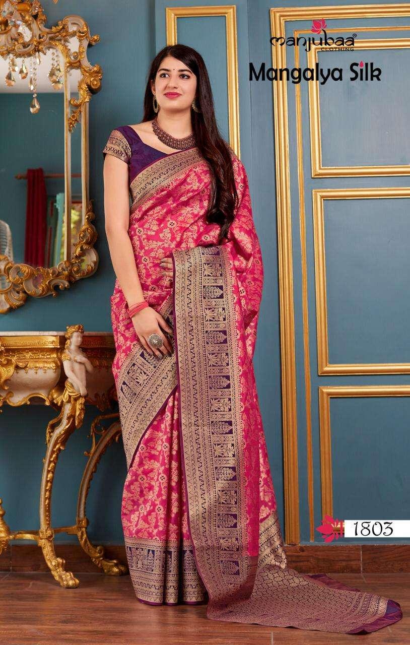 Manjubaa Clothing Mangalya Silk Designer Heavy Banarasi Silk Sarees Collection  04