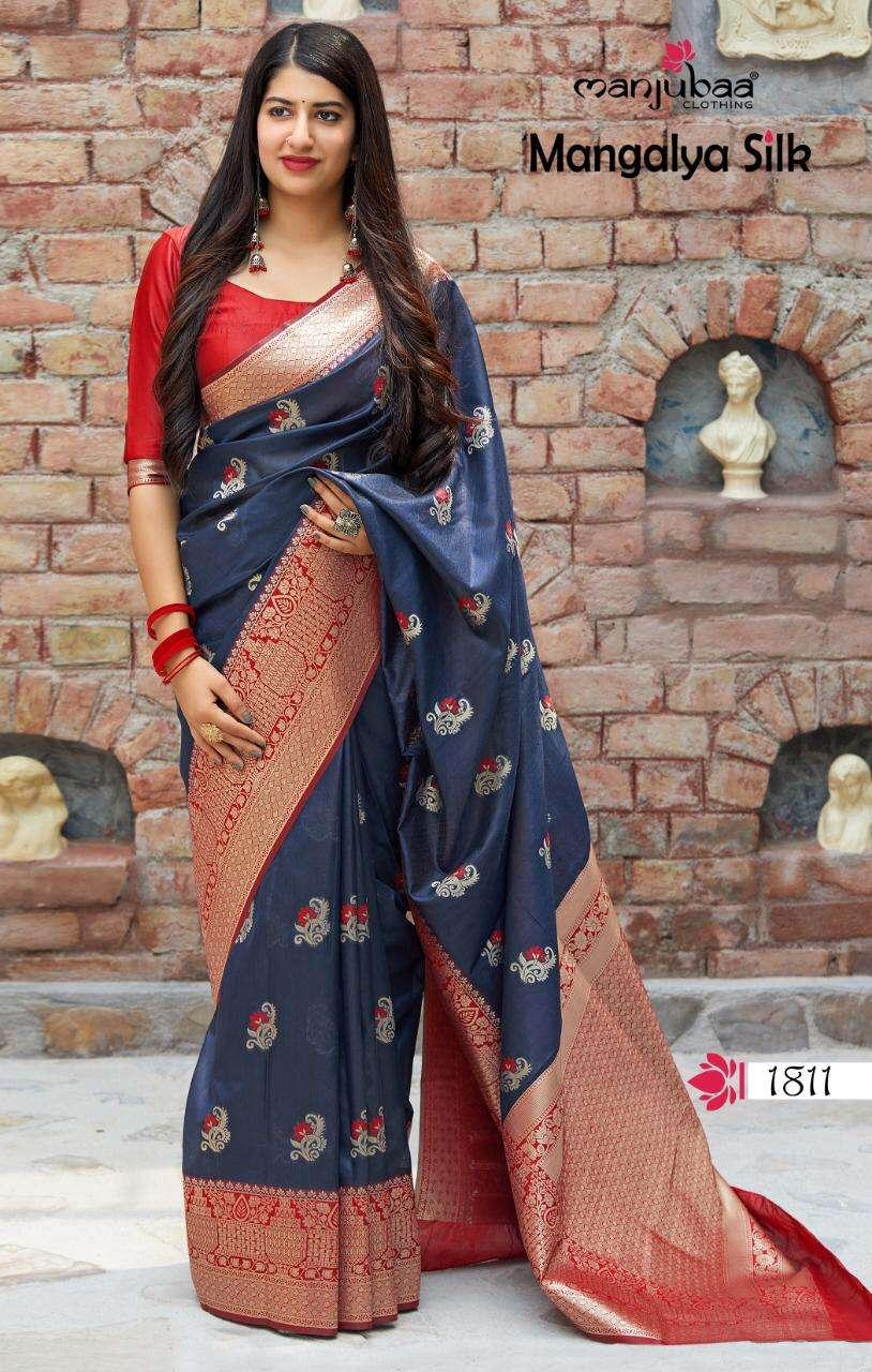Manjubaa Clothing Mangalya Silk Designer Heavy Banarasi Silk Sarees Collection  10