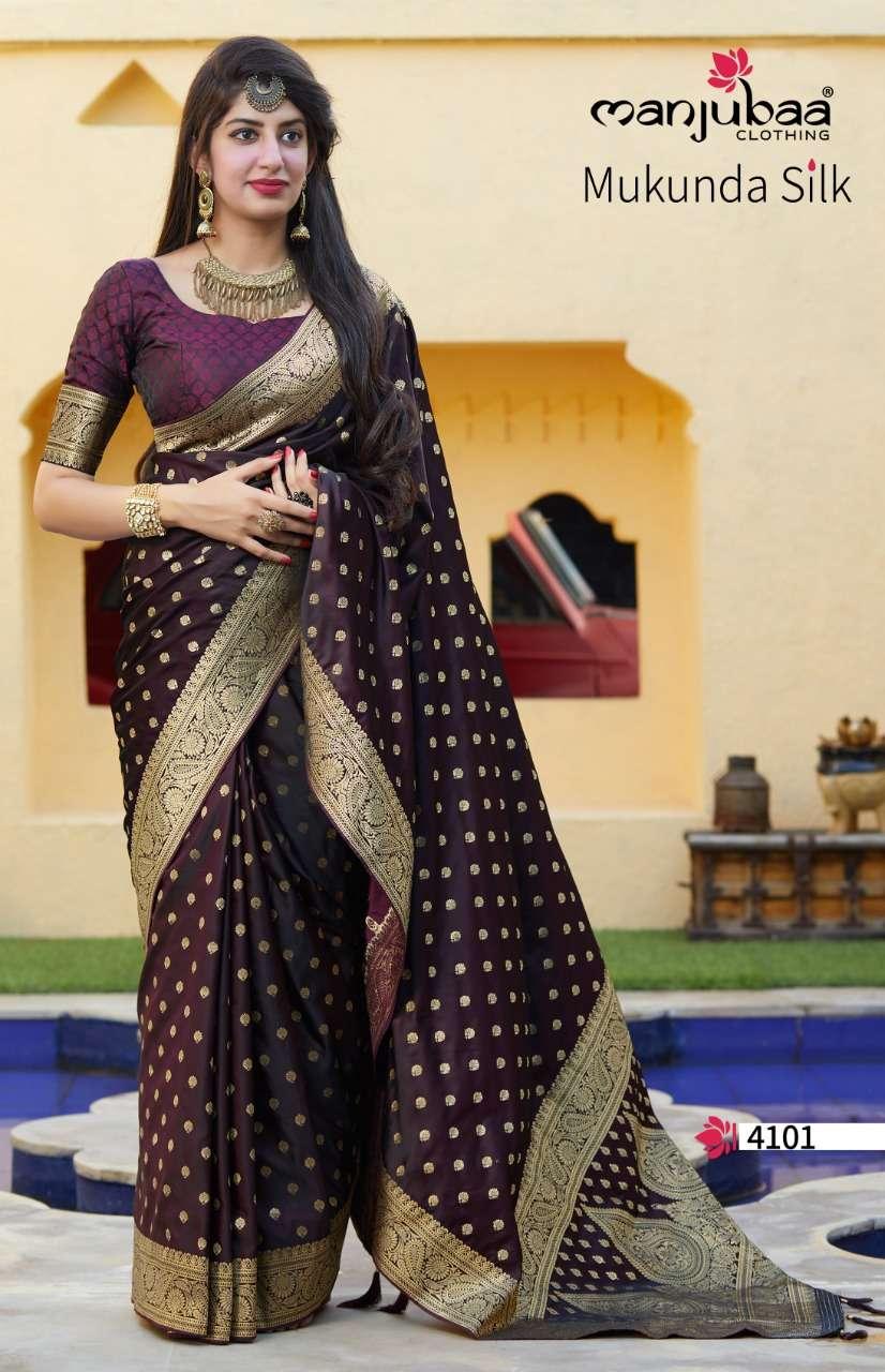 Manjubaa Clothing Mukunda Silk Designer Fancy Silk Sarees Collection  01