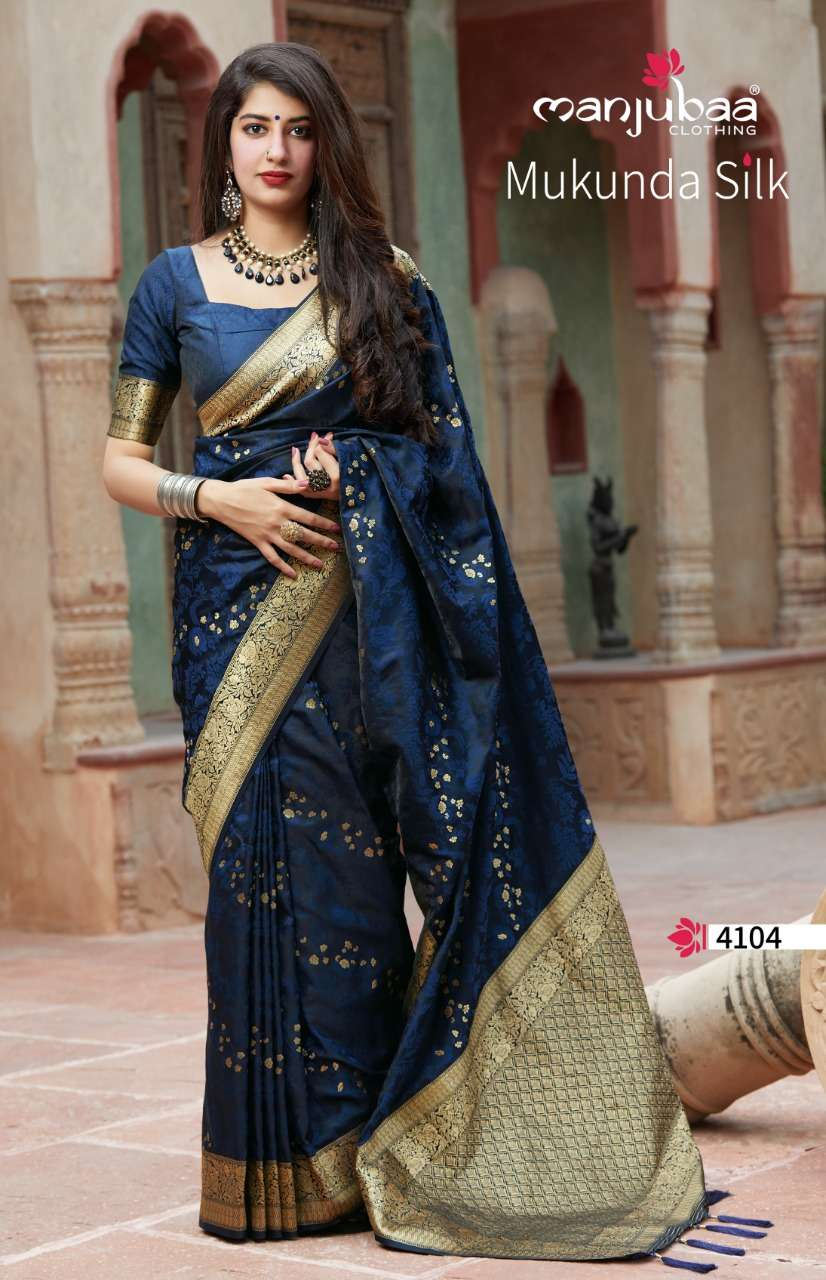 Manjubaa Clothing Mukunda Silk Designer Fancy Silk Sarees Collection  04