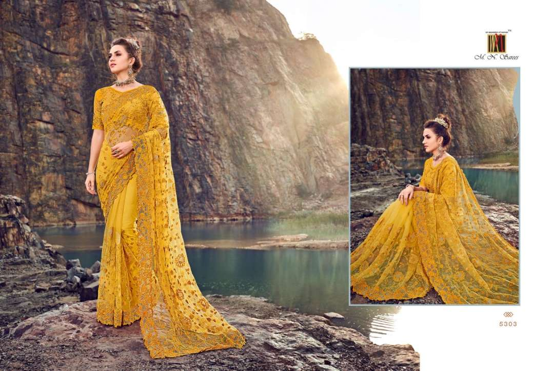 MN 5300 SERIES NET WITH DESIGNER PARTY WEAR SAREE COLLECTION 01