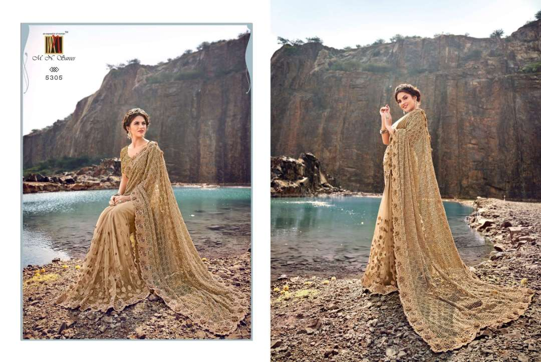 MN 5300 SERIES NET WITH DESIGNER PARTY WEAR SAREE COLLECTION 02