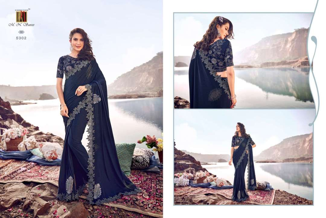 MN 5300 SERIES NET WITH DESIGNER PARTY WEAR SAREE COLLECTION 03