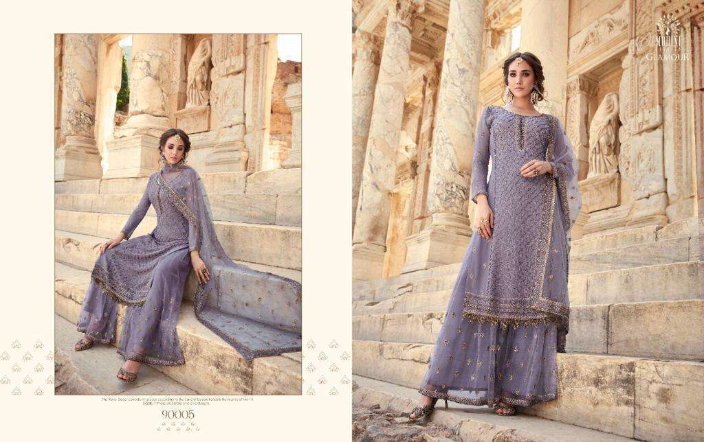 Mohini Fashion Glamour Vol 90 Georgette With Embroidery Work Dress Material Collection 01