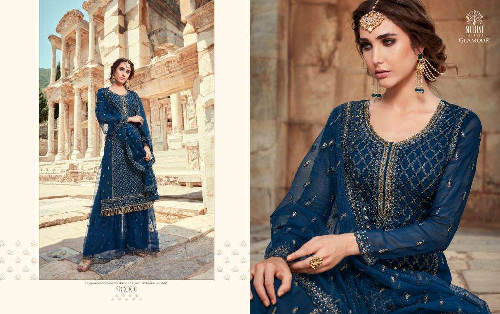 Mohini Fashion Glamour Vol 90 Georgette With Embroidery Work Dress Material Collection 02
