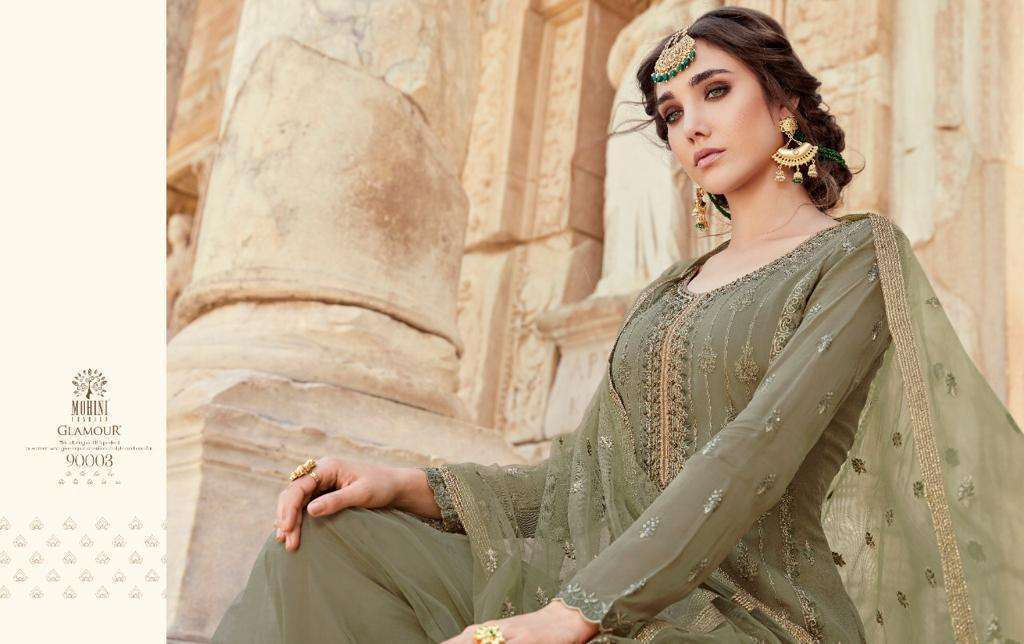 Mohini Fashion Glamour Vol 90 Georgette With Embroidery Work Dress Material Collection 04