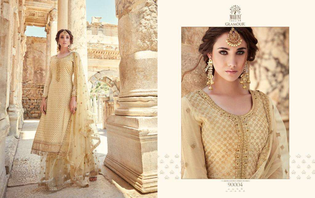 Mohini Fashion Glamour Vol 90 Georgette With Embroidery Work Dress Material Collection 05