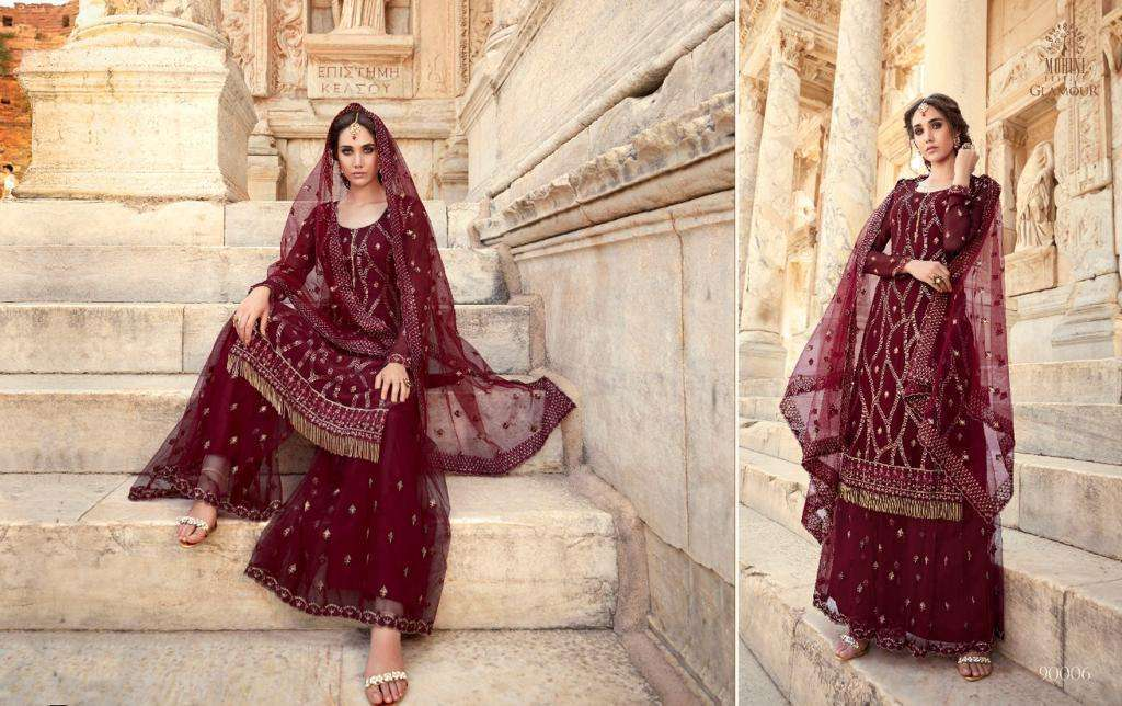 Mohini Fashion Glamour Vol 90 Georgette With Embroidery Work Dress Material Collection 06